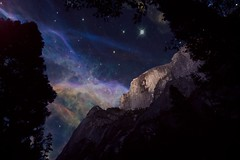 Just PLAYING with Half Dome.jpg (YOSEMITEDONN) Tags: trees sky night space yosemite halfdome glacierpointhalfdomestars goldenmasterpiece