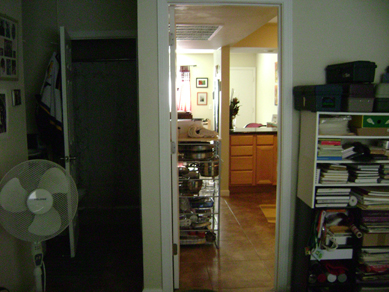 out the bedroom door