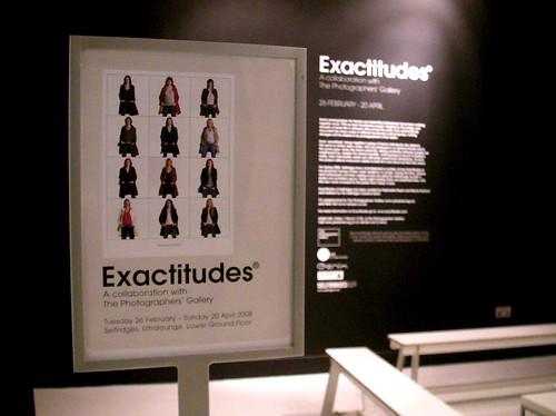 Exactitudes at Selfridges