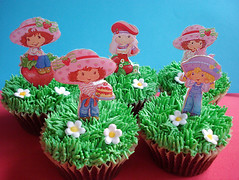 strawberry shortcake cupcakes (pink_apron) Tags: birthday girl cupcakes strawberryshortcake sweettreats