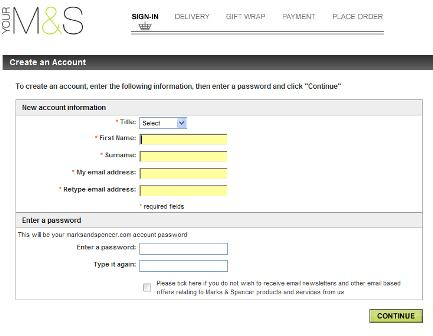 M&S registration