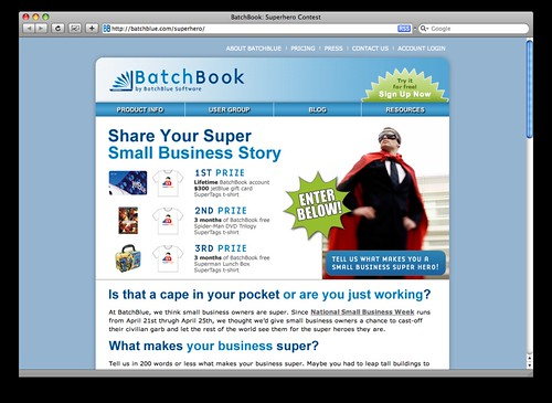Super Hero Contest @ BatchBlue.com