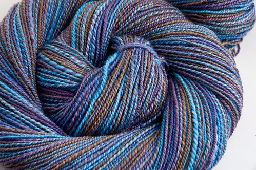 Handspun Twisted Fiber Art superwash merino in Angst