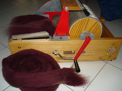 Drum carder side