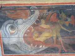 Bulgaria, Rila, mural detail,  another mouth of hell (boglam) Tags: travel church architecture mural heaven hell apocalypse icon medieval monastery bulgaria rila ikon orthodox judgement fresco easternorthodox lastjudgement jawsofhell