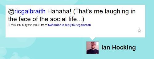 social life, not acceptable