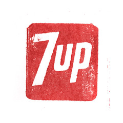 7up (Depression Press) Tags: vintage advertising logo typography bottle cola cut pop retro type soda letterpress brand slogan 7up softdrink depressionpress typecut