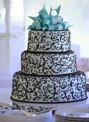 Frosted ribbons (lynne_b) Tags: china wedding cake dessert ribbons silverware chocolate weddingcake marriage celebration elegant frosting layercake