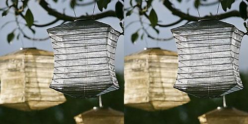 Solar Shoji Lanterns - Lanterna solar japonesa para jardins e festas