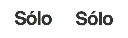 Demostración del efecto del sombreado en el texto en Safari y no en Firefox 3