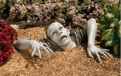 zombie lawn sculpture