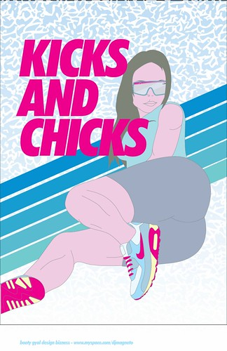 Kicks And Chicks. kicks-n-chicks-illustration-