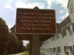 WW II Veterans Trail Sign