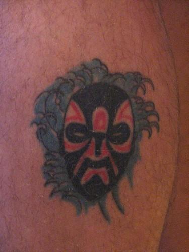 Kabuki Mask Tattoo