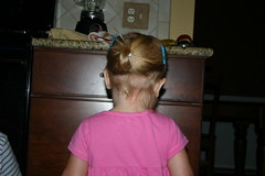 Anna's first ponytail