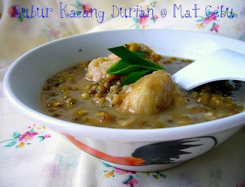 Bubur Kacang Durian