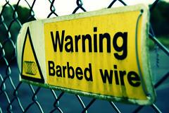 Warning! (©Komatoes) Tags: park uk warning lens nikon kitlens devon exeter valley kit ludwell d40 ludwellvalleypark