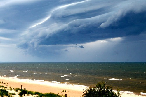 Storm Over Ludington Dunes by The Whistling Monkey