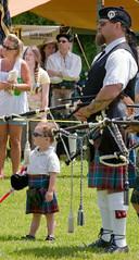Standing with Daddy (Brian Leon of Ottawa) Tags: festival child drum scottish 2008 winstonsalem bagpiper celticfestival