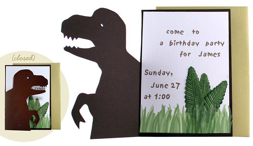 T-Rex Birthday Invitation