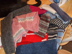 Felted Sweater Scraps from kaboogie