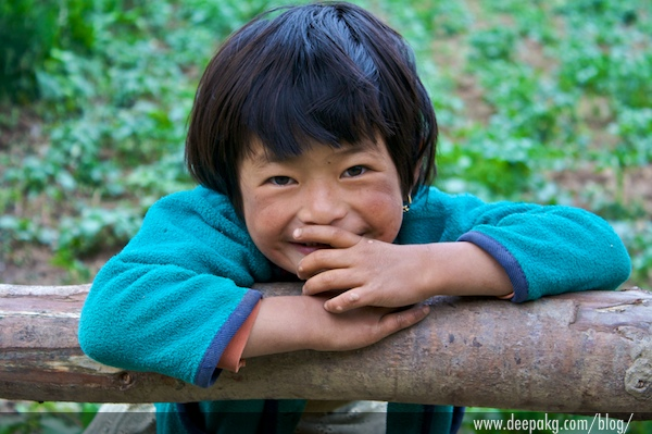 A Girl At Bhutan
