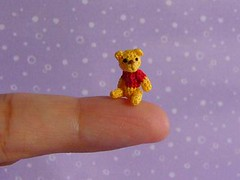 Pooh (MUFFA Miniatures) Tags: bear dog cute cat pumpkin mouse japanese miniature funny doll crochet gourd pooh poohbear amigurumi dollhouse kuma muffa cdhm threadanimals