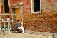 Restoration Workers, Venice