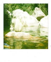 bagno 5: gorges de spelunca (mathias shoots analogue) Tags: analog polaroid corsica memories 600 analogue nophotoshop slr680 instantfun savepolaroid