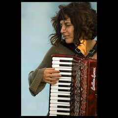 With passion (fotobicchio) Tags: portrait musician music donna nikon d70 wind accordion instrument passion accordian ritratto 70200 ragazza tastiera fisarmonica blueribbonwinner firstquality visiongroup infinestyle