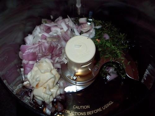 ingredients for thyme vinaigrette