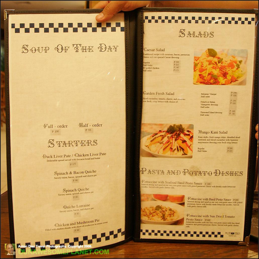 Tina S Cafe And Bakery Menu
