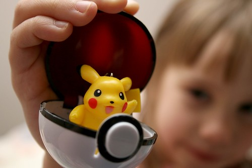 Girl holding Pokeball