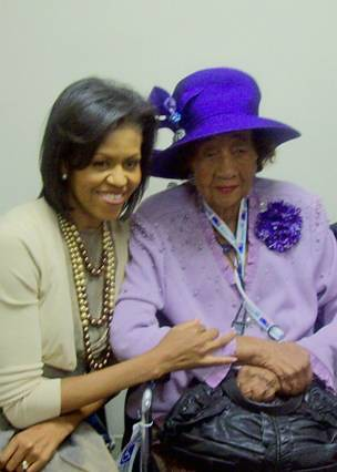Dorothy Height With First Lady Michelle Obama