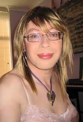 Silk Camisole 1 (lucy_anne_tv) Tags: glasses silk tgirl transvestite