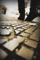 (ickleash) Tags: old urban feet sepia movement pattern dof legs drain journey globalworldawards