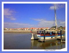 Montijo - Frente Ribeirinha (Miguel Tavares Cardoso) Tags: blue portugal rio azul river boat barco picturesque tejo tajo tagus montijo miguelcardoso ilustrarportugal sérieouro miguelcardoso2008 migueltavarescardoso