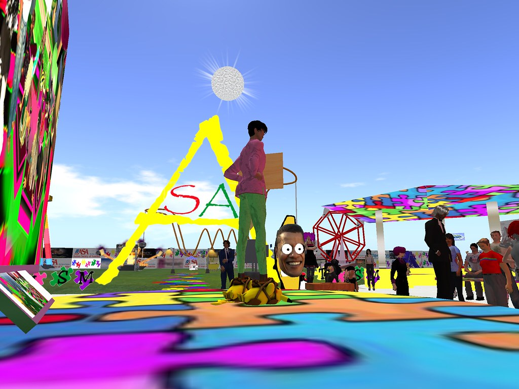Bounce for Autism Event in Second Life