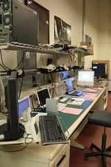 Desk side view (alexkeeny) Tags: apple work desk technician