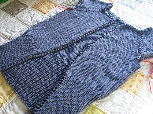 cropped cardigan - WIP