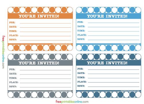 retro stylish printable invitations