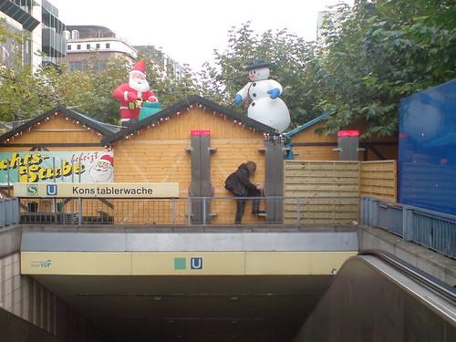 Mini Hangout auf der Zeil während der Weihnachtszeit 2006