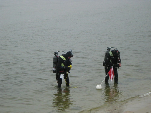 ... and Setting Up the Dive Flag