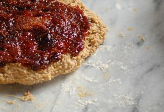 Almond and fig-filled whole wheat scones
