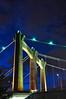 Hennepin Avenue Bridge Tower (mclain5798) Tags: city bridge urban water minnesota architecture modern night river evening downtown suspension photobook minneapolis noflash mississippiriver twincities nikkor stanthony nicolletisland 18200mm nikond90