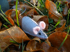 Light Gray Mouse - Bring Stories and Rhymes Alive, Nature Table Accessory, or Play Toy