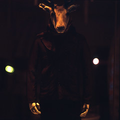 the starfish hotel (memetic) Tags: china street 6x6 mannequin night beijing deer figure   provia sanlitun arax60