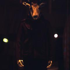 the starfish hotel (memetic) Tags: china street 6x6 mannequin night beijing deer figure   provia sanlitun arax60