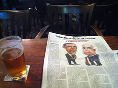 A Fateful Election in the Head of Steam (new folder) Tags: beer liverpool newspaper pub pint presidentialelection lager barackobama limest johnmccain headofsteam thenewyorkreview apictureofliverpool