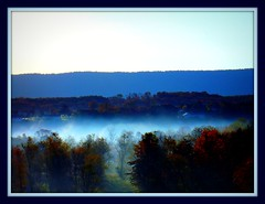 MISTY VALLEY (d_fowler35) Tags: trees fall colors leaves fog landscapes sony wv berkeleysprings wva